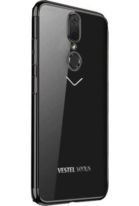 Gpack Vestel Venüs V7 Kılıf Colored Silicone Yumuşak Siyah