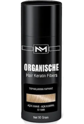 Organische 4 Kutu 200 Gram Hair Keratin Fibers Açık Kahve Topik