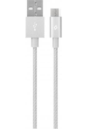 Ttec Micro USB Data ve Şarj Kablosu Gümüş
