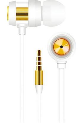 S-link SL-KU140 Mobil Uyumlu Kulak İçi Beyaz/Gold Mikrofonlu Kulaklık