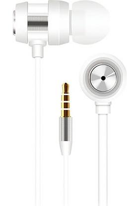 S-link SL-KU140 Mobil Uyumlu Kulak İçi Beyaz/Gümüş Mikrofonlu Kulaklık