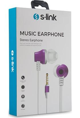 S-link SL-KU150 Mobil Uyumlu Taşıma Çantalı Kulak İçi Beyaz/Pembe Mikrofonlu Kulaklık