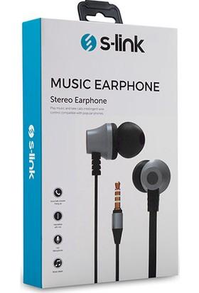 S-link SL-KU150 Mobil Uyumlu Taşıma Çantalı Kulak İçi Siyah/Gümüş Mikrofonlu Kulaklık