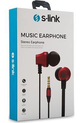 S-link SL-KU150 Mobil Uyumlu Taşıma Çantalı Kulak İçi Siyah/Kırmızı Mikrofonlu Kulaklık