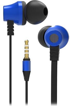 S-link SL-KU150 Mobil Uyumlu Taşıma Çantalı Kulak İçi Siyah/Mavi Mikrofonlu Kulaklık