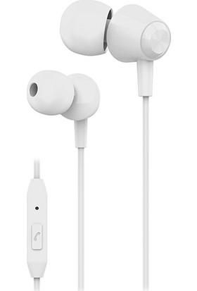 S-link SL-KU160 Mobil Uyumlu Beyaz Kulak İçi Mikrofonlu Kulaklık