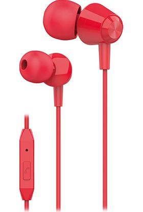 S-link SL-KU160 Mobil Uyumlu Kırmızı Kulak İçi Mikrofonlu Kulaklık