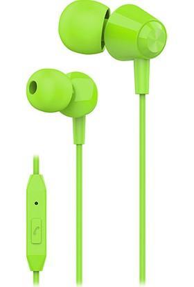 S-link SL-KU160 Mobil Uyumlu Yeşil Kulak İçi Mikrofonlu Kulaklık