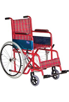 Mor Medikal BZ802E Standart Çocuk Tekerlekli Sandalyesi Emniyet Kemerli