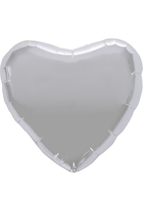 Kidspartim Kalp Gümüş 18 inç Folyo Balon