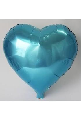 Kidspartim Kalp Mavi 18 inç Folyo Balon