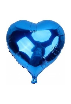Kidspartim Kalp Saks Mavi 18 inç Folyo Balon