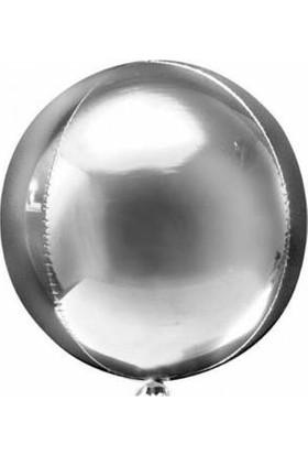 Kidspartim Küre Folyo Balon Gümüş