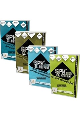 SPK'nın El Kitabı Sermaye Piyasası Faaliyetleri Düzey 1 Lisansı (4 Kitap)