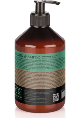 CO Professional AfterKeratin Şampuan 500ml * Keratin Sonrası Şampuan