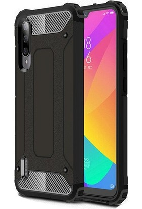KNY Xiaomi Mi 9 Lite Kılıf Ultra Korumalı Çift Katmanlı Armour Case+Cam Ekran Koruyucu