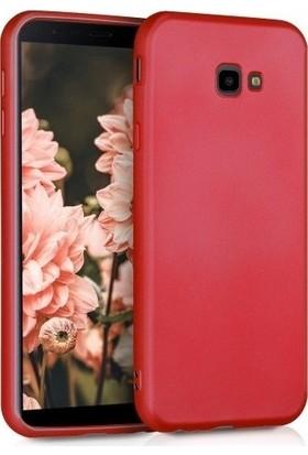 Efsunkar Samsung Galaxy J4 Plus Premier Silikon Kılıf - Kırmızı