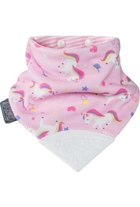 Cheeky Chompers Diş Kaşıyıcılı Fular Önlük Unicorn Love