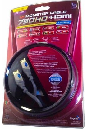 Monster 750 Hd 4K Altın Uçlu HDMI Kablo 1 mt