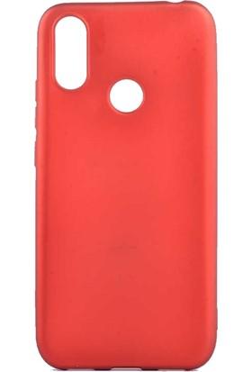 Tekno Grup Casper Via S Kılıf Mat Premium Silikon Kılıf - Kırmızı + Cam Ekran Koruyucu