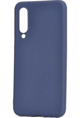 Tekno Grup Xiaomi Mi 9 Lite Kılıf Mat Premium Silikon Kılıf - Lacivert + Nano Ekran Koruyucu