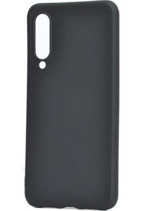 Tekno Grup Xiaomi Mi 9 Lite Kılıf Mat Premium Silikon Kılıf - Siyah + Tam Kaplayan 6D Nano Ekran Koruyucu