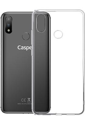 Tekno Grup Casper Via S Kılıf Darbe Emici Süper Silikon Kılıf Şeffaf + Cam Ekran Koruyucu