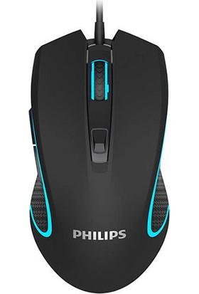 Philips SPK9413 USB 1200/2400/3200/6400DPI RGB Oyuncu Mouse - Siyah