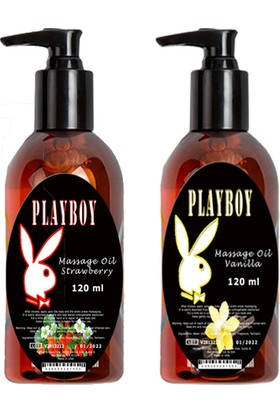 Playboy Massage Oil Strawberry And Vanilla Fragrances 120 ml Çilek ve Vanilya Kokulu Vücut Masaj Yağı