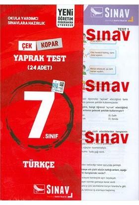Sınav Yayınları 7. Sınıf Türkçe Yaprak Test