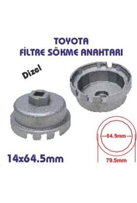 Toyota Dizel Yağ Filtre Sökme Anahtarı-Aparatı 14 Köşe 64,5 mm