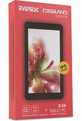 "Everest Digiland DL7006-KB 7"" 8GB Wi-Fi IPS Tablet Kırmızı"