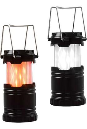 S-Link SL-8710 12+21 LED Işıklı Alevli Mini Lamba 1.5 AAA Pilli