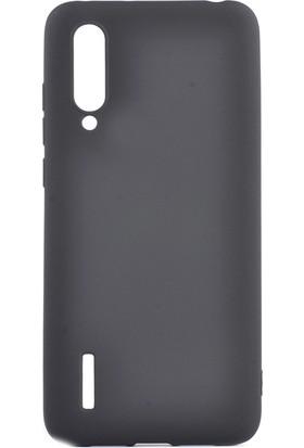 Happyshop Xiaomi Mi 9 Lite Kılıf Ultra İnce Mat Silikon + Cam Ekran Koruyucu Siyah