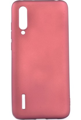 Happyshop Xiaomi Mi 9 Lite Kılıf Ultra İnce Mat Silikon + Nano Cam Ekran Koruyucu Bordo