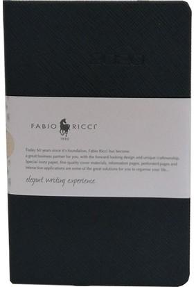 Fabio Ricci 2020 9 x 14 cm Haftalık Çizgili Ajanda Siyah 1033