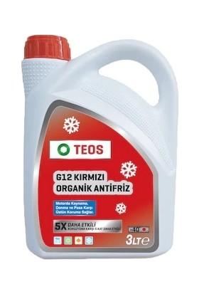 Teos G12 Organik Kırmızı Antifiriz -40C 3 Litre ( 2021 Üretim )