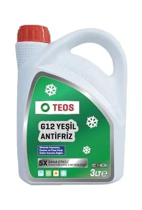 Teos G12 Organik Yeşil Antifiriz 3 Litre SKT:2022