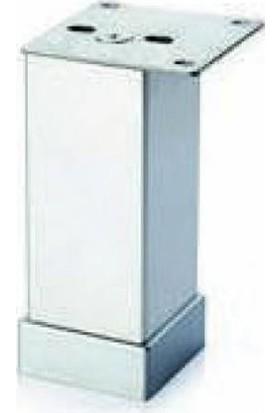 Dereli 40X40 Kare Ayak 8 cm Alüminyum Ikrom (4 Adet)