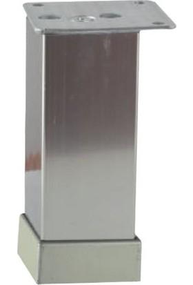 Dereli 40X40 Kare Ayak 10 cm Alüminyum Inox(4 Adet)