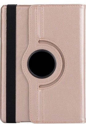 Cepmarketim Samsung Galaxy Tab A 10.1'' T510 Kılıf 360 Rotating Stand + Nano Ekran Koruyucu - Gold