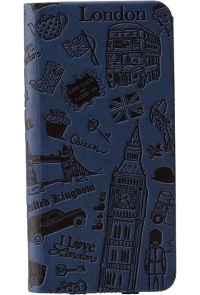 Ozaki O!coat Travel Premium Deri Folio Flip iPhone 6 / 6s Kılıf - Lacivert