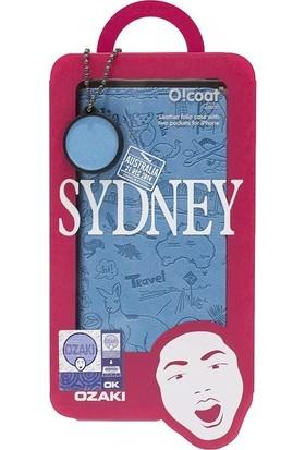 Ozaki O!coat Travel Premium Deri Folio Flip iPhone 6 / 6s Kılıf - Mavi