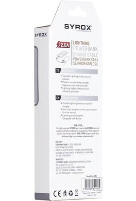 Syrox Lightning Powerbank USB Kablo 2.0A (12 Cm) C81