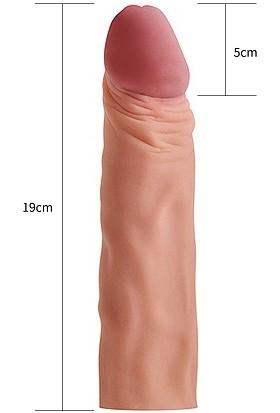 Drlove Realistik Penis Kılıfı Ten Rengi Uzatmalı