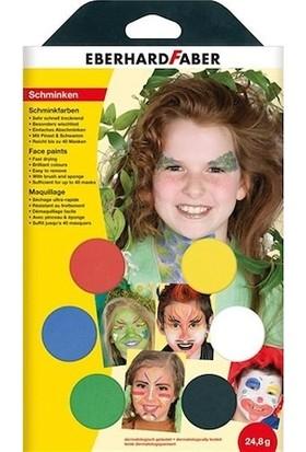 Eberhard Faber Yüz Boyası Parti 6 Renk Fırçalı