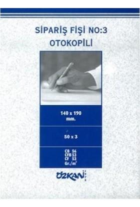 Özkan Sipariş Fişi No:4 Otokopili 50*2 Nusha 6 Ad