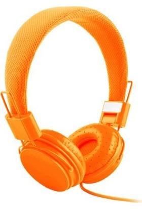 Color Ep05 Kablolu Kulak Üstü Kulaklık - Turuncu