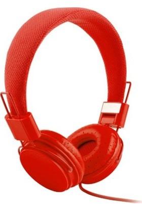 Color Ep05 Kablolu Kulak Üstü Kulaklık - Kırmızı