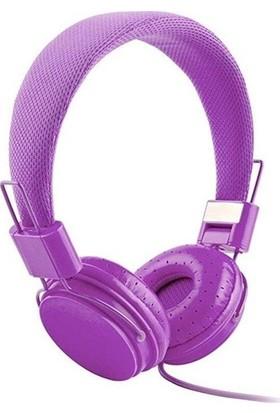 Color Ep05 Kablolu Kulak Üstü Kulaklık - Mor